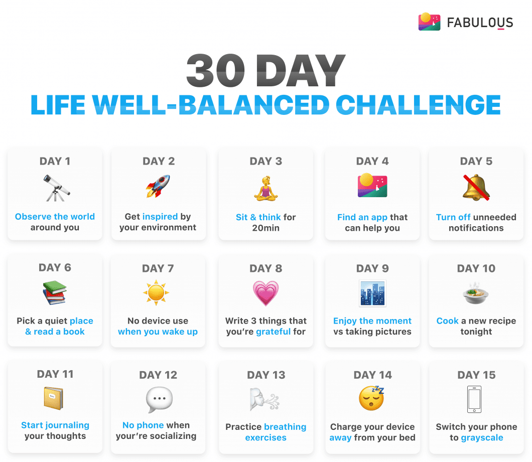 30 Day Life Well-Balanced Challenge