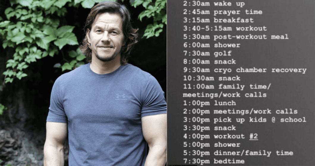 What We Can Learn From Mark Wahlberg's Daily Routine