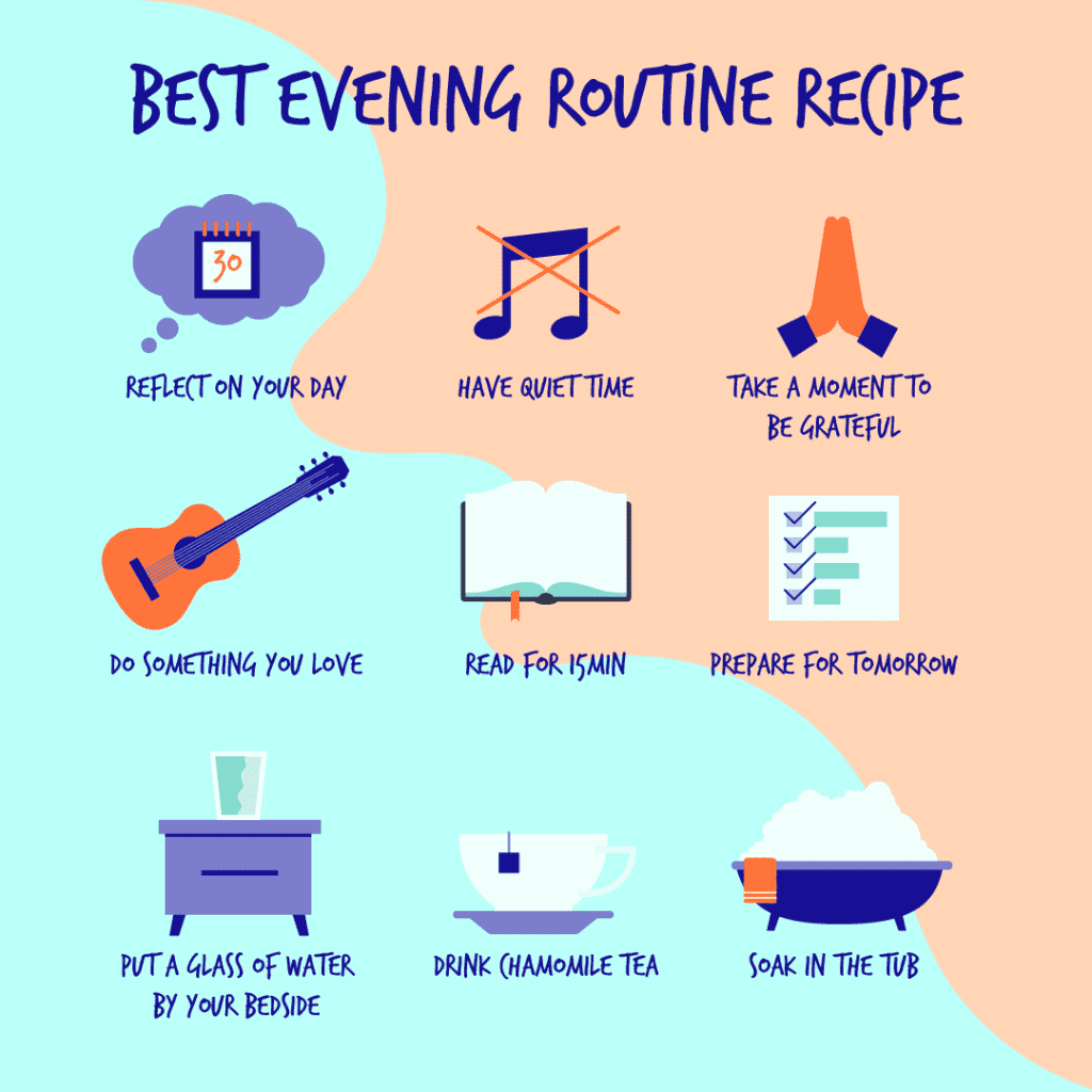 Bedtime routine when feeling burnt out